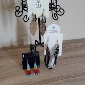 Feather Native Style Earrings